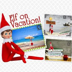 Elf on Vacation Post Cards for $5.99 – Boy or Girl