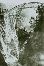 Robert Maillart:  scaffolding for the Salginatobel Bridge, Schiers, Switzerland, 1929.