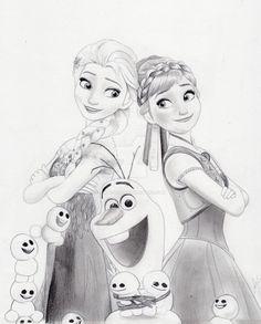 Frozen Fever (Graphite Drawing) by julesrizz – Leben Ideen – zopf Disney Character Drawings, Disney Drawings Sketches, Girl Drawing Sketches, Art Drawings Sketches Simple, Cartoon Drawings, Cute Drawings, Disney Princess Sketches, Elsa Drawing, Frozen Art