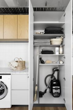 stylish laundry room design ideas to inspiring you 57 > Fieltro.Net 58 Stylish Laundry Room Design Ideas To Inspiring You > Fieltro. Laundry Cupboard, Utility Cupboard, Farmhouse Laundry Room, Laundry Room Organization, Organization Ideas, Storage Ideas, Cleaning Cupboard, Utility Room Storage, Laundry Room With Storage