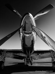 Vintage Planes P 51 - Mustang Art Print by John Hamlon. All prints are professionally printed, packaged, and shipped within 3 - 4 business days. Choose from multiple sizes and hundreds of frame and mat options. Mustang P51, Mc Bess, Image Avion, Jet Plane, Aviation Art, Military Aircraft, Wwii, Black And White, Cool Stuff