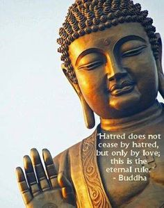 """Hatred does not cease by hatred, but only by love; this is the eternal rule."""