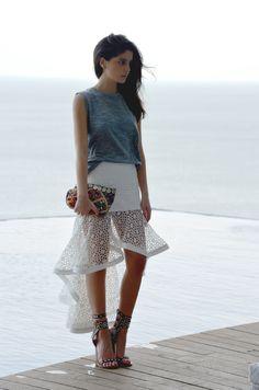 Street chic / karen cox. Haute Inhabit | Lainy Hedaya shop alexis franchesca skirt 4