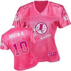 Women s Nike Washington Redskins  10 Robert Griffin III Elite Pink 2012 Fem  Fan Jersey  109.99 45551d30a