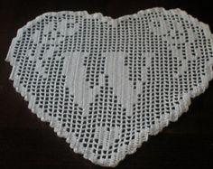 PATTERN in ITALIAN language  hand crochet heart doily