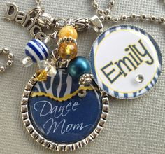 Cheer Mom Jewelry | Dance PERSONALIZED Necklace - School Colors, Dance team, Dance Mom ...