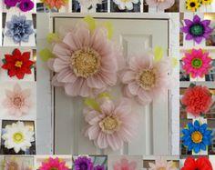 Pompom Set 3x Tissue paper flowers 45cm Wedding Venue Decorations Centerpiece Birthday colours available
