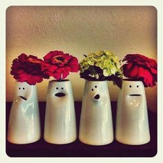 Clay Vase, Ceramic Vase, Ceramic Clay, Slab Pottery, Pottery Wheel, Pottery Vase, Ceramic Pottery, Halloween Vase, Simple Face
