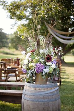 Floral Arrangement Vinewood Plantation | Katie & Taylor's Gallantly Rustic Wedding - Newnan, GA | Wedding Venue