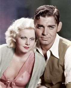 Clark gable (this is my fav pic of him) sitting with jean harlow