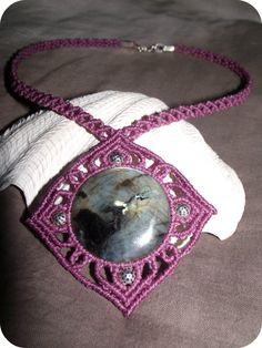 star labradorite macrame necklace por MareterraeArt en Etsy