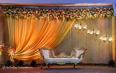 Looking for Minimal Floral Stage decor? Browse of latest bridal photos, lehenga & jewelry designs, decor ideas, etc. on WedMeGood Gallery. Reception Stage Decor, Wedding Backdrop Design, Desi Wedding Decor, Wedding Hall Decorations, Wedding Stage Design, Luxury Wedding Decor, Wedding Reception Backdrop, Backdrop Decorations, Wedding Ideas