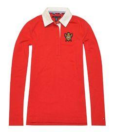 Tommy Hilfiger Women Long Sleeve Logo Polo T-Shirt $44.99
