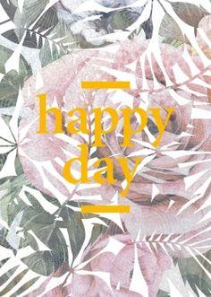 BUTT Papierkram - Postkarte »happy day« (rose)