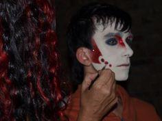"""Maquillaje Murga """"Falta y Resto"""" 2011 participando en el Concurso Carnaval del Uruguay, artista Mariela Gotuzzo"""