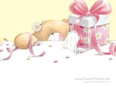 Teddy Bear - Forever Friends - Happy Birthday