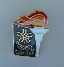 Calgary Winter Olympic 1988 Torch Lapel Hat Pin Winter Games, Winter Olympics, Hat Pins, Calgary, Lapel Pins, Candles, Ebay, Winter Time, Winter Olympic Games