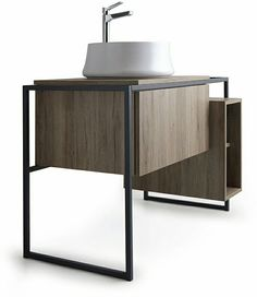 The Frame bathroom furniture collection by Simas.