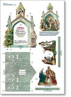 Gothic Arch Nativity Sheet - PaperModelKiosk.com