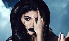 Kylie Jenner models new black lip kit shade during edgy photo shoot
