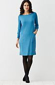 "petite Wearever pocket dress | J.Jill style no.W6037T     Easy pullover knit dress with a boat neckline and dropped shoulders. Front patch pockets. Banded hemline.          Above-knee length: M 37½"", P 35½"", W 40""         Long sleeves         95% rayon and 5% Lycra® spandex knit         Machine wash, tumble dry, low         Imported"