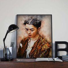 Arya Stark  Game of Thrones Art Print Poster  by BlackSailsUK