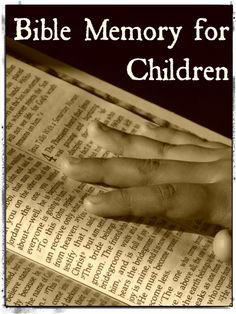 Bible Memory for Children