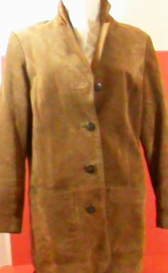 LORD & TAYLOR SUEDE Leather JACKET Size 4~Brown