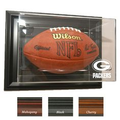 Green Bay Packers NFL Case-Up Football Display Case (Horizontal)