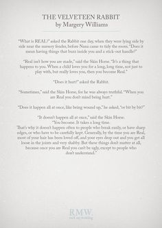 The Velveteen Rabbit by Margery Williams | Wedding Readings | http://www.rockmywedding.co.uk/reading-ideas-for-your-wedding-ceremony/