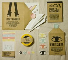 Killed By Class — A Boring Lesson Survival Kit by Danielle Nicole Ng, via Behance