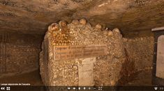 """The Paris Catacombs is """"one of those places,"""" wrote photographer Félix Nadar, """"that everyone wants to see and no one wants to see again."""" If anyone would know, Nadar would. Merovingian, The Catacombs, Underground Cities, French History, Skull And Crossbones, Make A Donation, Memento Mori, Virtual Tour, Macabre"""