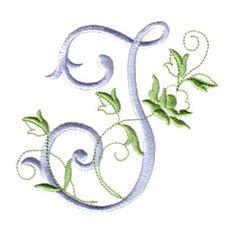 monogram alphabet J