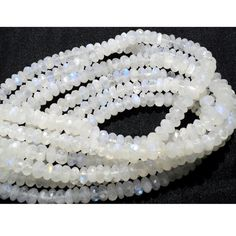 Rainbow Moonstone Rondelle Beads 8mm Beads by gemsforjewels, $39.80