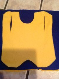 Free Chicken Apron/Saddle Pattern No sew polar fleece version fast and easy chicken protection