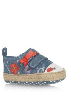 Buy Chambray Embellished Low Tops (0mths-2yrs) from the Next UK online shop