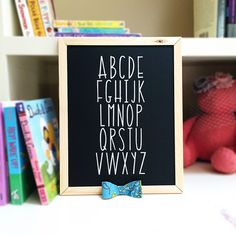 How to make perfect Chalk Lettering using Silhouette Stencil material & a Chalk Marker
