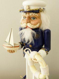 Vintage Nutcracker Sailor Sea Captain Navy by ModRendition on Etsy