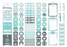 A4 #Stickers sheet for your #Planner. FREE FOR PERSONAL USE ONLY! :) - www.thedearyouproject.com