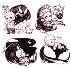 Venom x Eddie by yuushishio Venom Comics, Marvel Venom, Marvel Dc Comics, Marvel Avengers, Venom Art, The Venom, Eddie Brock Venom, Japanese Tattoo Art, Spideypool