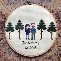 A couple who loves to camp and hike needs some trees! Holy moly each tree took 3 hours  So worth the outcome
