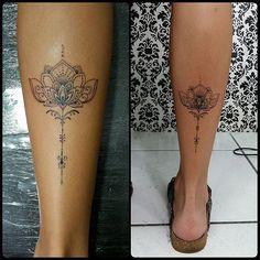 Flor de lotus trabalho em Linha by @renetattoo #sevenstarstattoo #saopaulo #saopaulotattoo ...