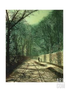 Tree Shadows on the Park Wall, Roundhay, Leeds, 1872 Giclee Print by John Atkinson Grimshaw at Art.co.uk