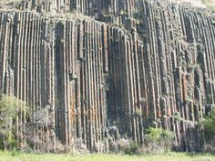 Columnar Jointing in a basaltic formation-I don't know what that means but it's cool to look at