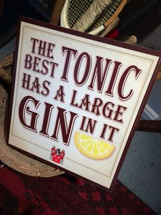 The Best Tonic Has A Large Gin In It