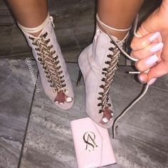 pinterest || @ chxlsxag • High Hells, Cute Heels, Shoes Heels, Pumps, Pink Heels, Bootie Boots, Heeled Boots, Shoe Boots, 90s Fashion