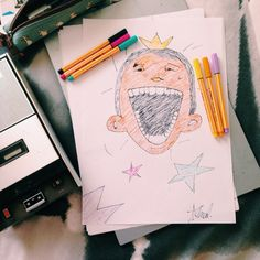 Happy weekend. # #happy #awesome #happysaturday #drawing #laughing #haveahappyday
