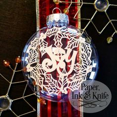 Christmas Ornaments Set of 12 - Papercut Template