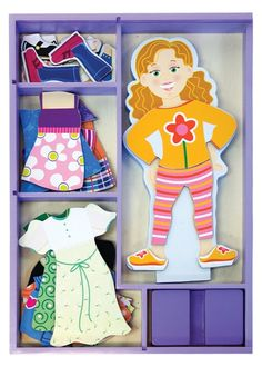 I think Lydia would be all over something like this - paper doll but not tearable. She loves to dress her baby doll (but isn't very good at it yet), but this would be easier.