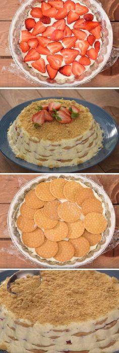 La mejor carlota que vas a probar en tu vida es esta: CARLOTA DE FRESAS CON CREMA ¡La preparas en minutos y la disfrutas por horas! #carlota #fresas #queso #crema #vainilla #receta #recipe #casero #torta #tartas #pastel #nestlecocina #bizcocho #bizcochuelo #tasty #cocina #chocolate #pan #panes Si te gusta dinos HOLA y dale a Me Gusta MIREN …